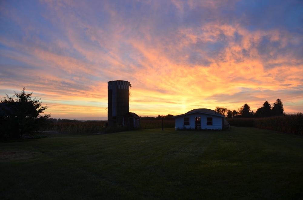 sunrise-over-greenhouse